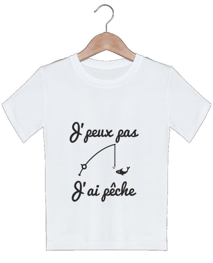 T-shirt garçon motif J'peux pas j'ai pêche,tee shirt pécheur,pêcheur Benichan