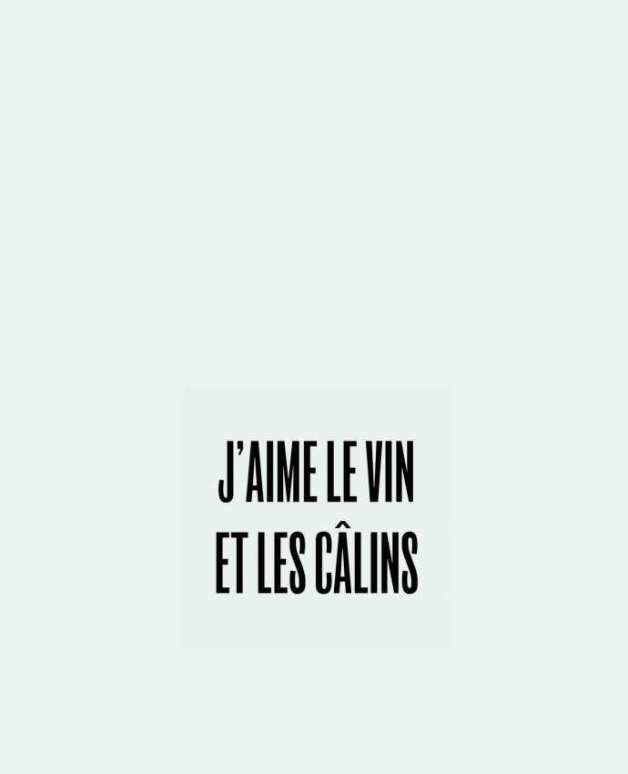 Sac en Toile Coton J'aime le vin et les câlins par tunetoo