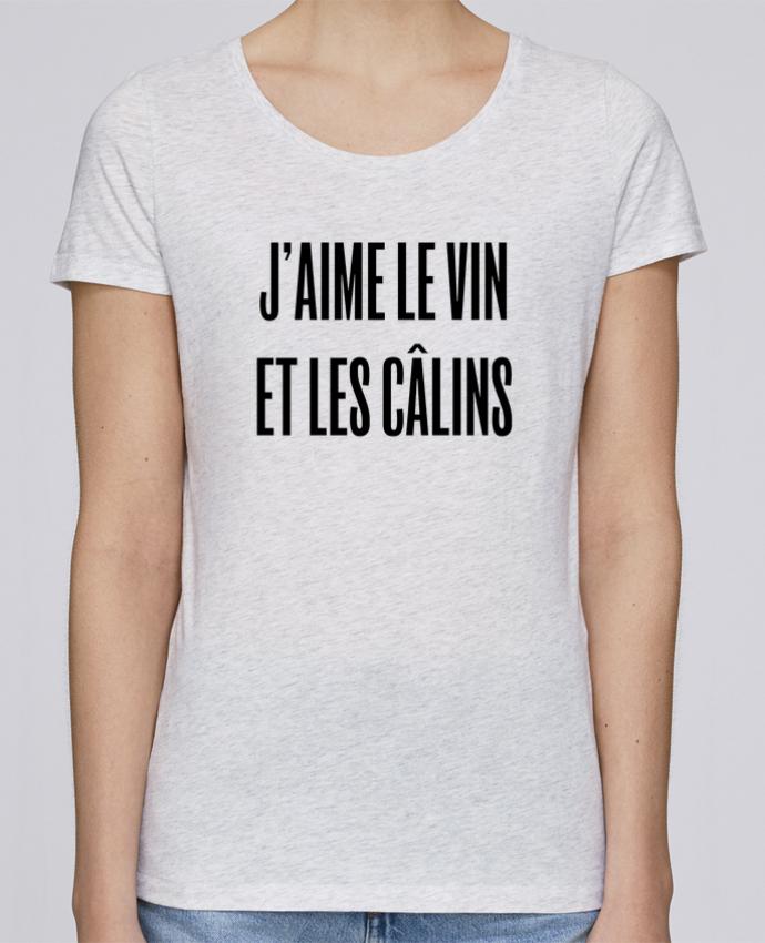 T-shirt Femme Stella Loves J'aime le vin et les câlins par tunetoo