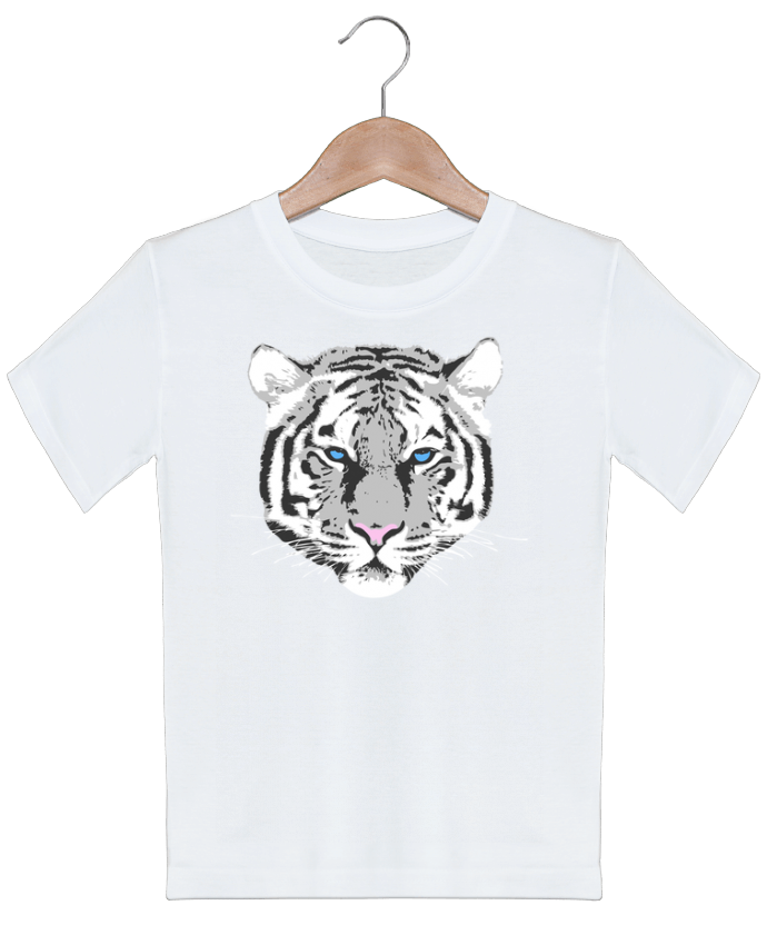 T-shirt garçon motif Tigre blanc justsayin