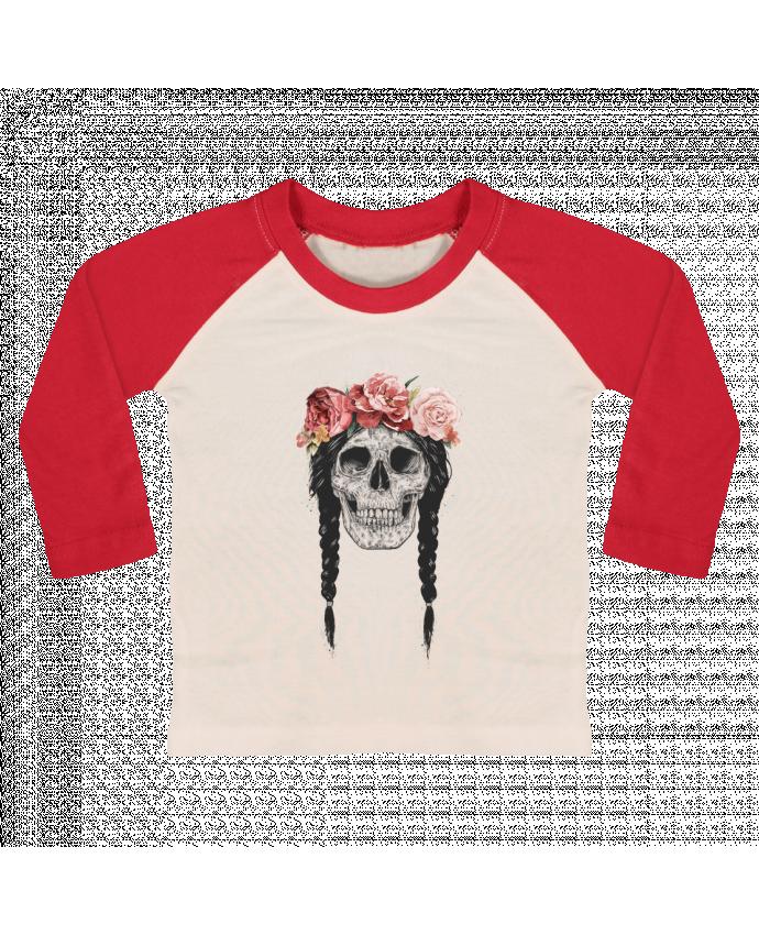 T-shirt Bébé Baseball Manches Longues Festival Skull par Balàzs Solti