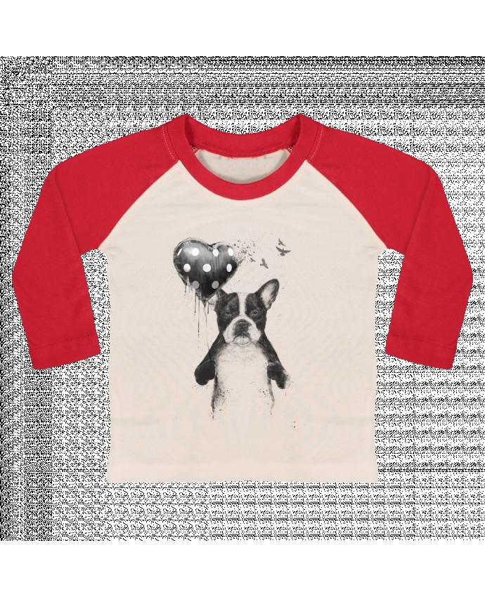 T-shirt Bébé Baseball Manches Longues my_heart_goes_boom par Balàzs Solti