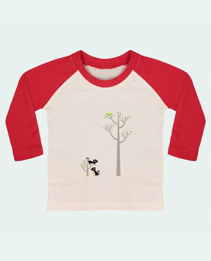 T-shirt Bébé Baseball Manches Longues Growing a plant for Lunch par flyingmouse365