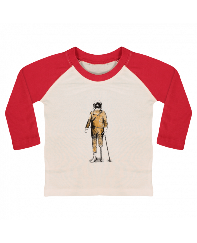 T-shirt Bébé Baseball Manches Longues Astropirate par Florent Bodart