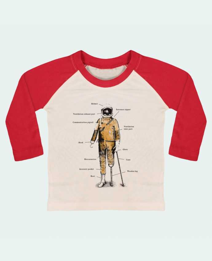 T-shirt Bébé Baseball Manches Longues Astropirate with text par Florent Bodart