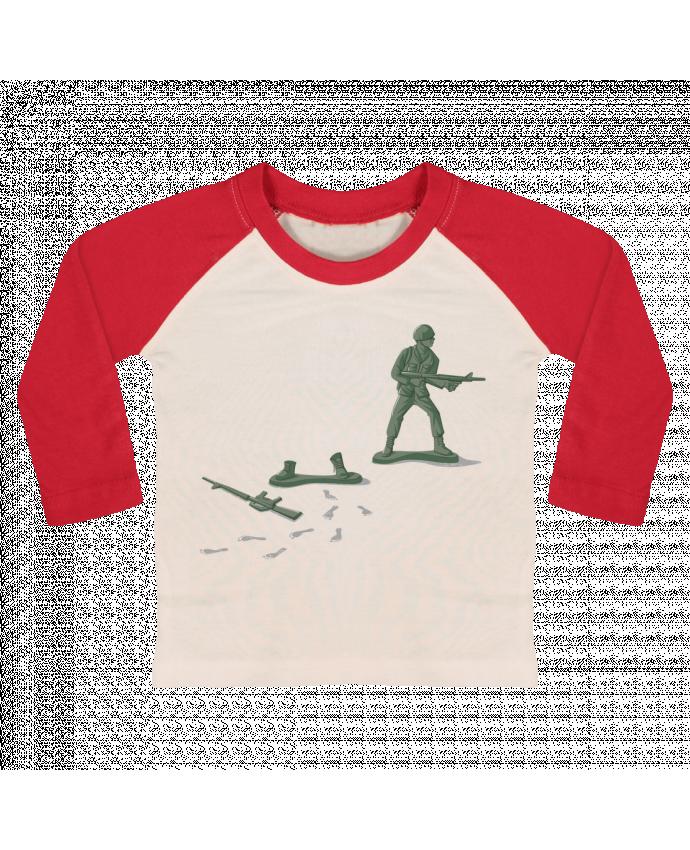T-shirt Bébé Baseball Manches Longues Deserter par flyingmouse365