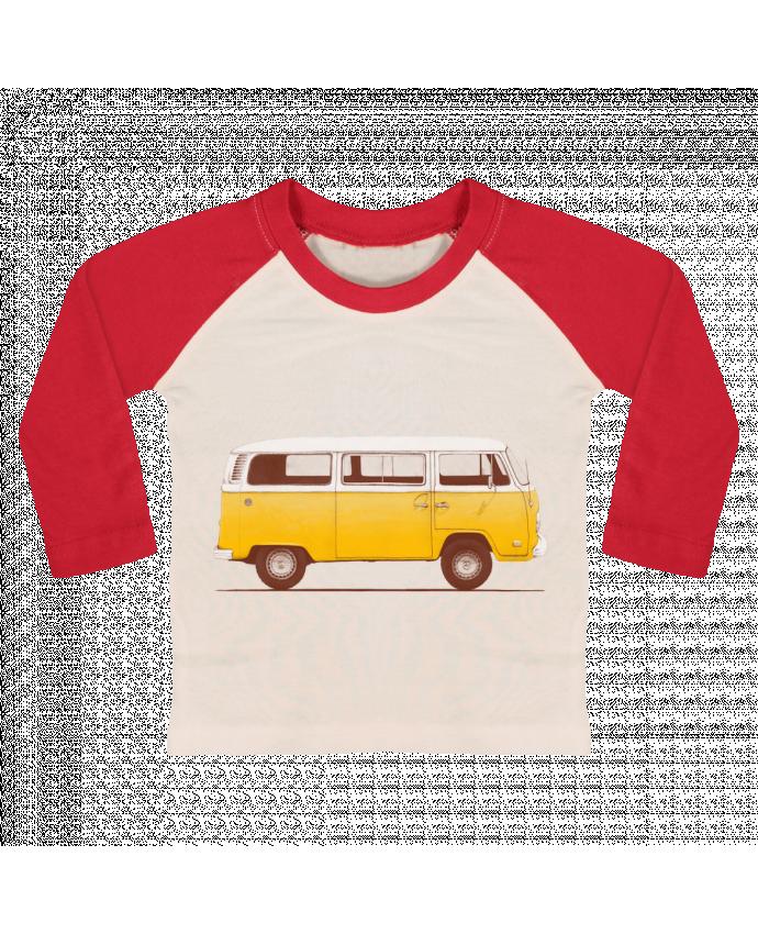 T-shirt Bébé Baseball Manches Longues Yellow Van par Florent Bodart