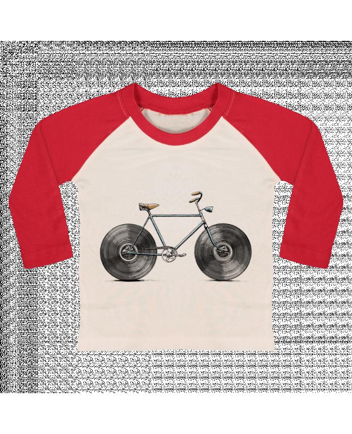 T-shirt Bébé Baseball Manches Longues Velophone par Florent Bodart