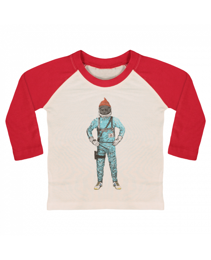 T-shirt Bébé Baseball Manches Longues Zissou in space par Florent Bodart