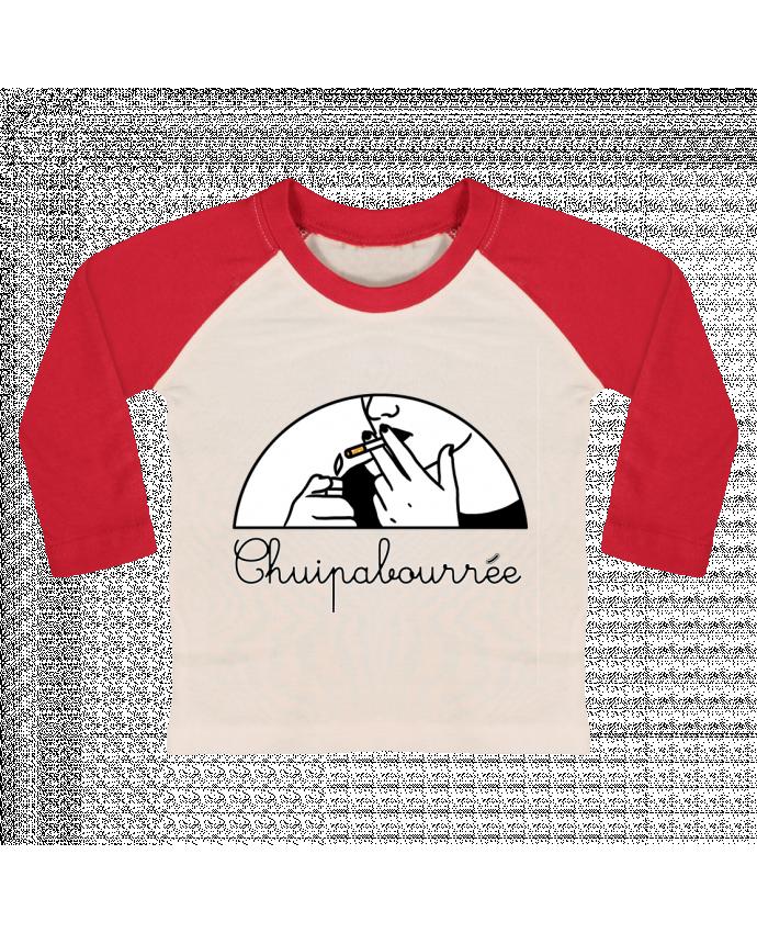 T-shirt Bébé Baseball Manches Longues Chuipabourrée par tattooanshort