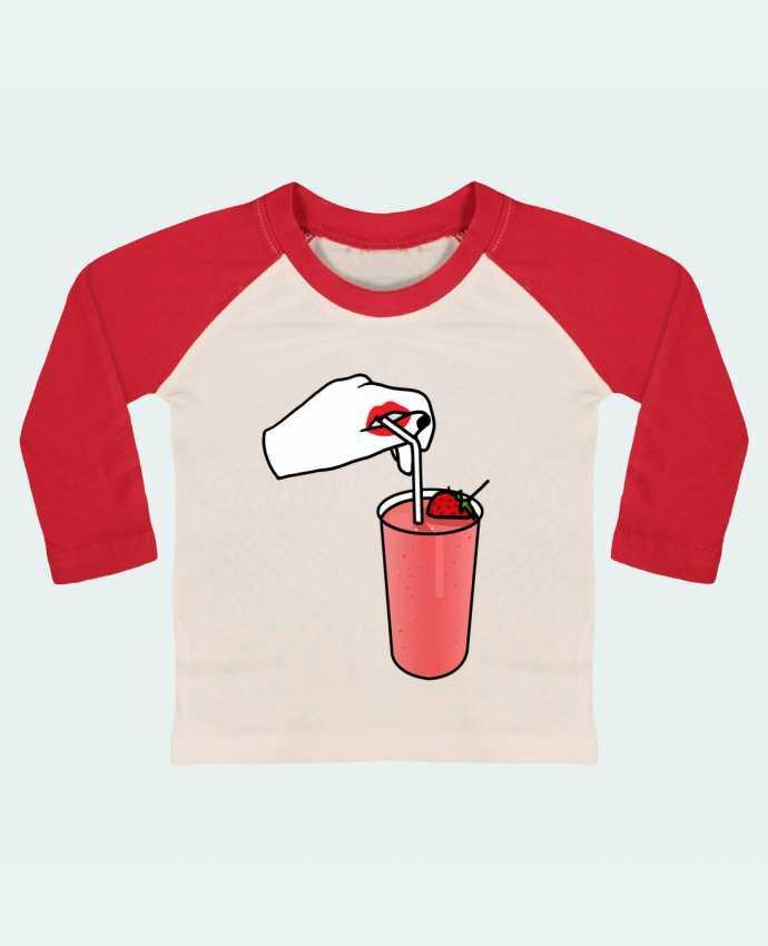 T-shirt Bébé Baseball Manches Longues Milk shake par tattooanshort