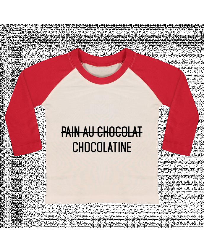 T-shirt Bébé Baseball Manches Longues Chocolatine par tunetoo