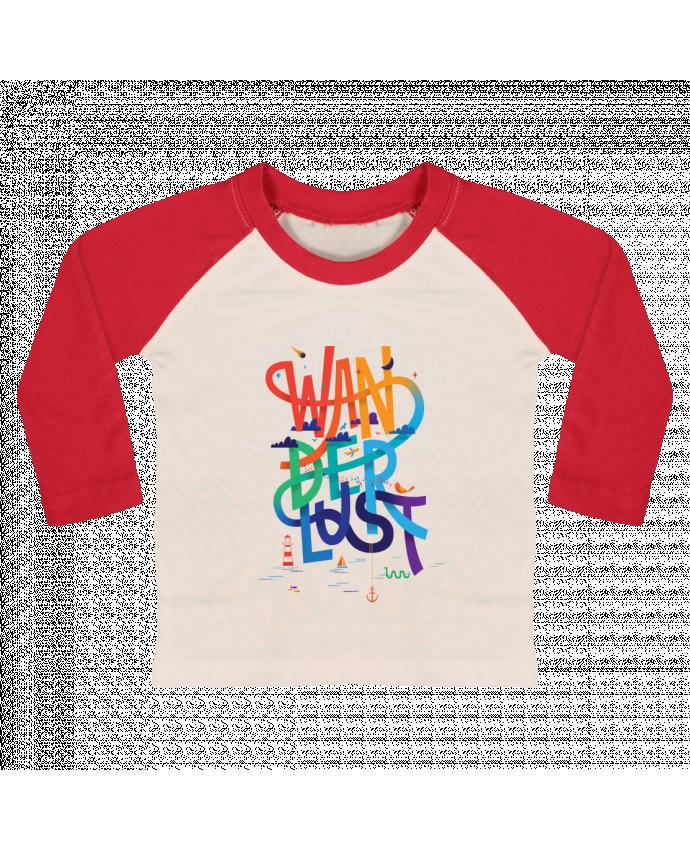 T-shirt Bébé Baseball Manches Longues WanderLust par chriswharton