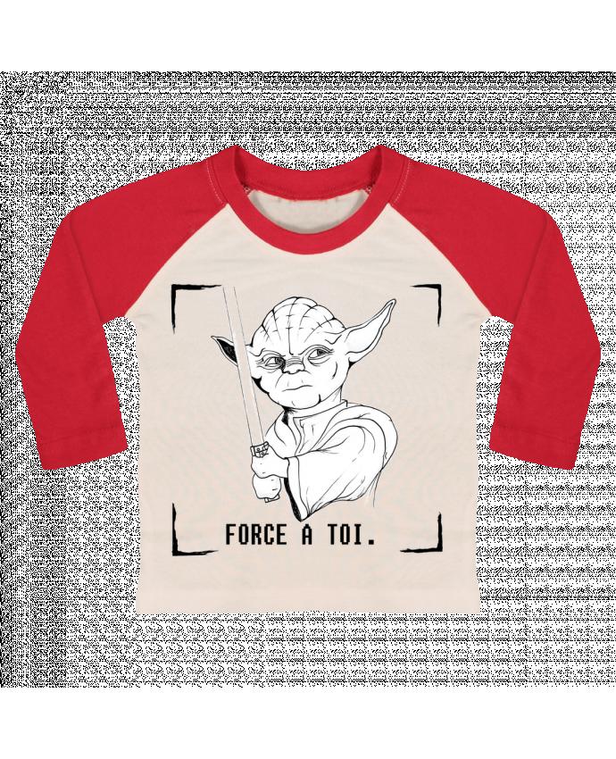 T-shirt Bébé Baseball Manches Longues Maître Yoda par Paulo Makesart