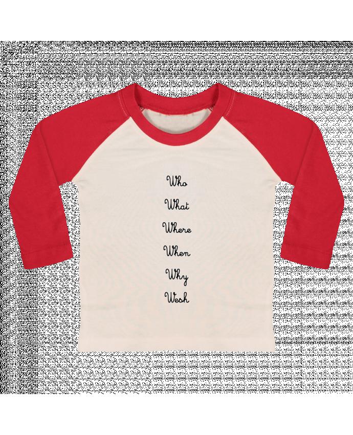T-shirt Bébé Baseball Manches Longues 5W par tattooanshort