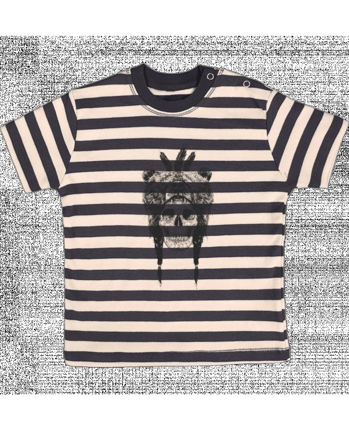 T-shirt Bébé à Rayures Dead Shaman par Balàzs Solti