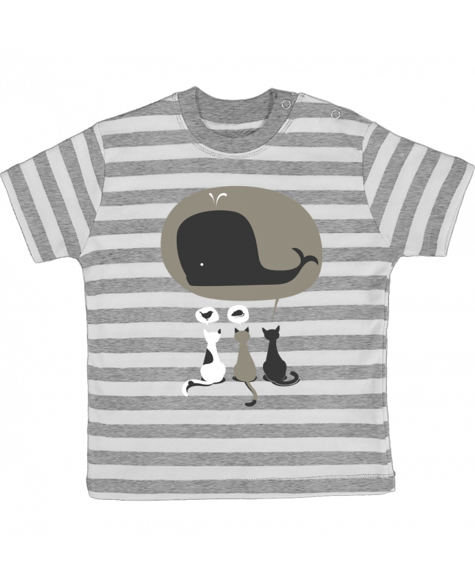 T-shirt Bébé à Rayures Dream Big par flyingmouse365