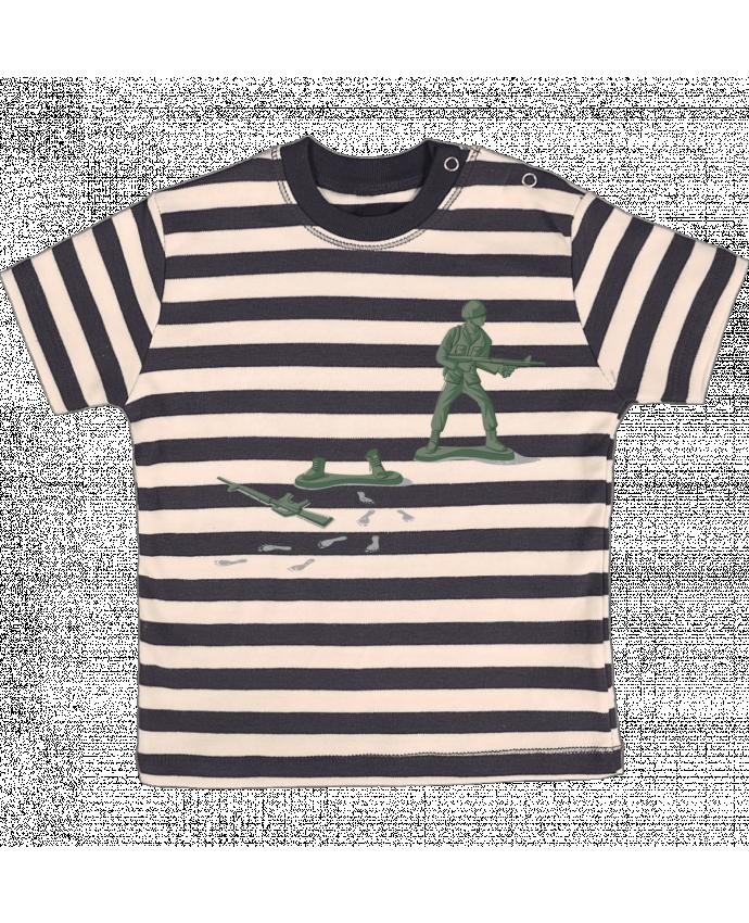 T-shirt Bébé à Rayures Deserter par flyingmouse365