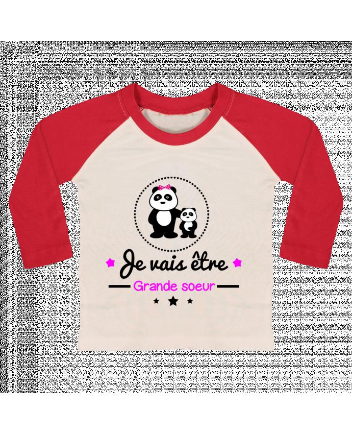 T-shirt Bébé Baseball Manches Longues Bientôt grande soeur - Future grande soeur par Benichan