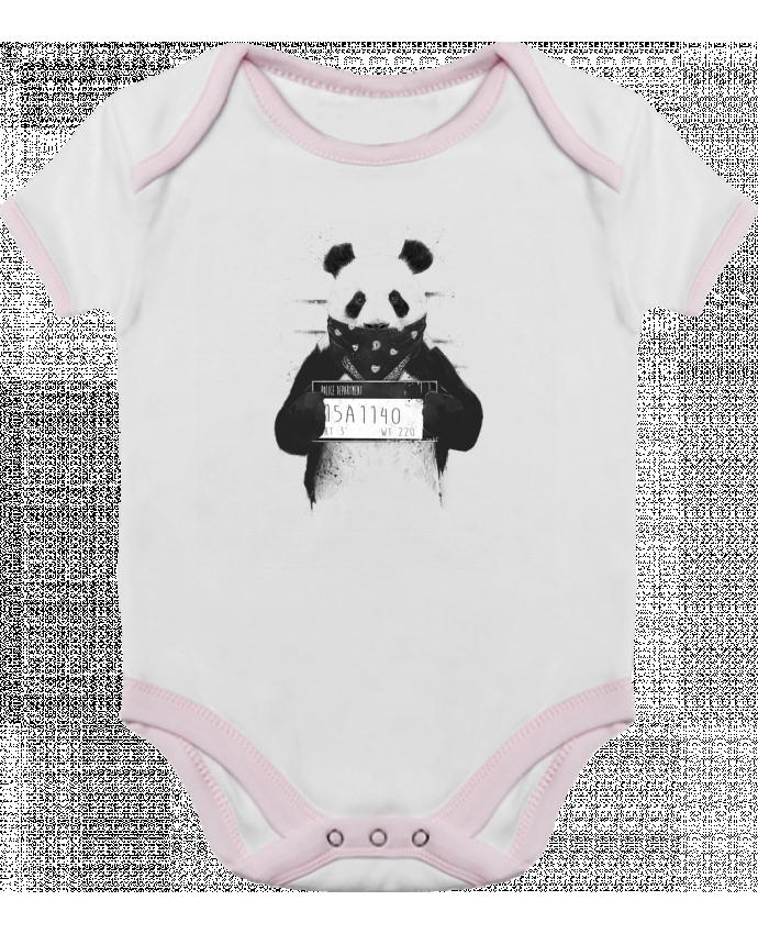 Body Bébé Contrasté Bad panda par Balàzs Solti