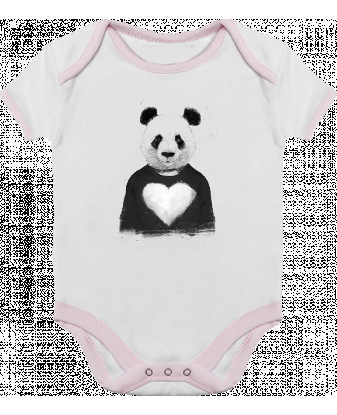Body Bébé Contrasté lovely_panda par Balàzs Solti