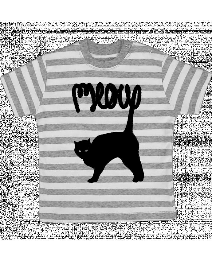 T-shirt Bébé à Rayures Meow par Florent Bodart