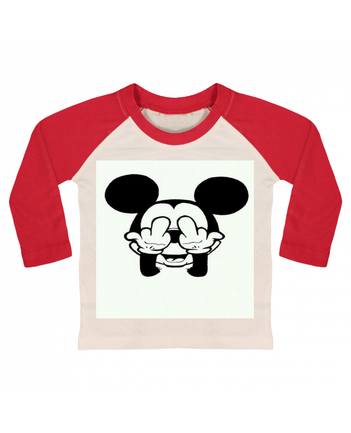 T-shirt Bébé Baseball Manches Longues Vetement mickey doigt d'honneur par Designer_TUNETOO
