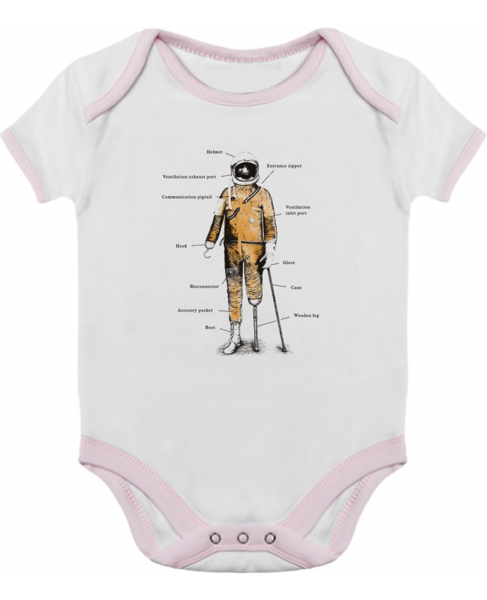 Body Bébé Contrasté Astropirate with text par Florent Bodart