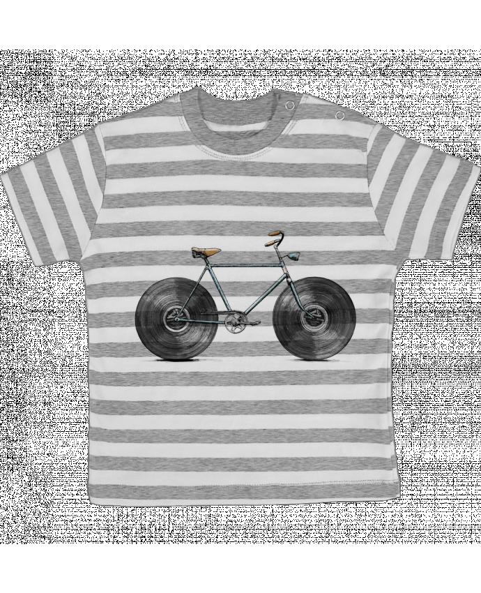 T-shirt Bébé à Rayures Velophone par Florent Bodart