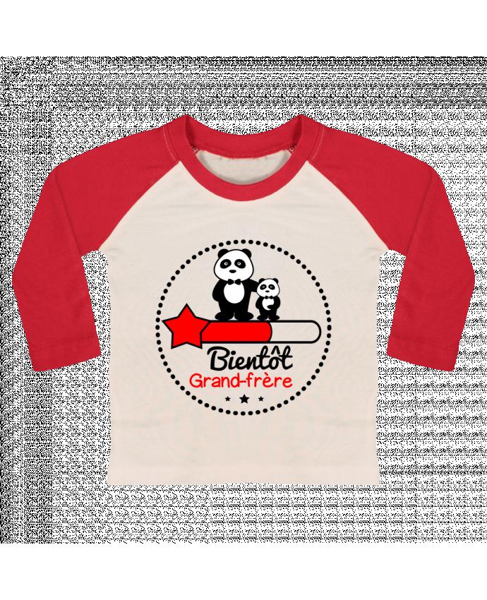 T-shirt Bébé Baseball Manches Longues Bientôt grand-frère , futur grand frère par Benichan