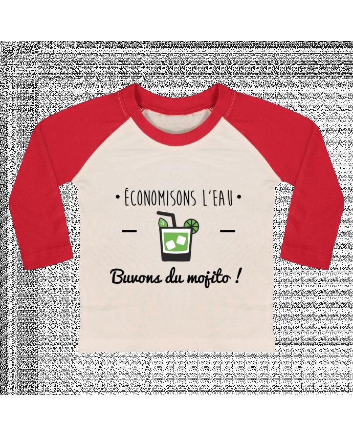 T-shirt Bébé Baseball Manches Longues Économisons l'eau, buvons du mojito ! Humour , alcool , citations par Be