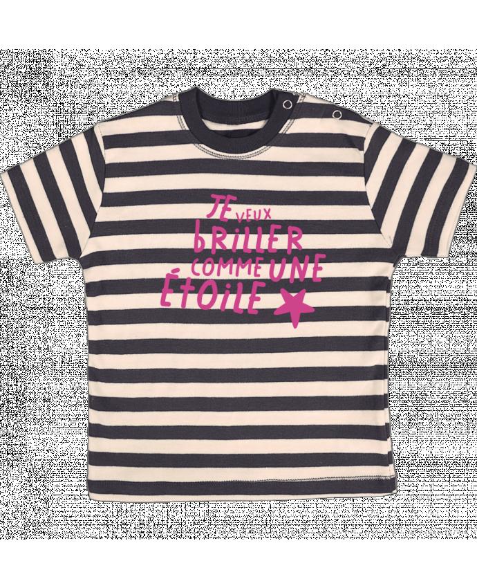 T-shirt Bébé à Rayures Briller comme une étoile par tunetoo