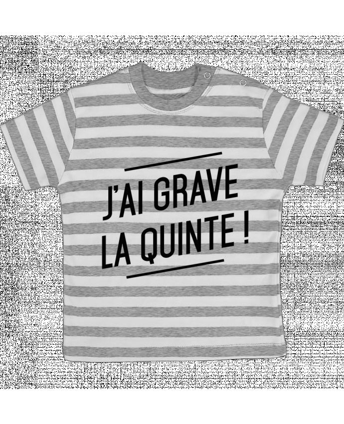 T-shirt Bébé à Rayures La quinte ! par tunetoo