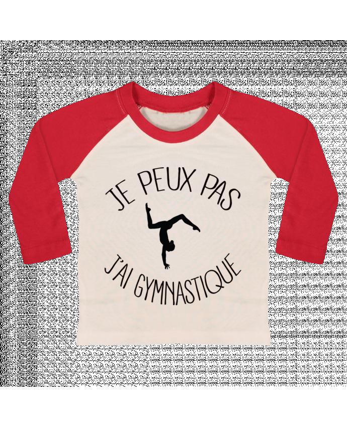 T-shirt Bébé Baseball Manches Longues Je peux pas j'ai gymnastique par Freeyourshirt.com