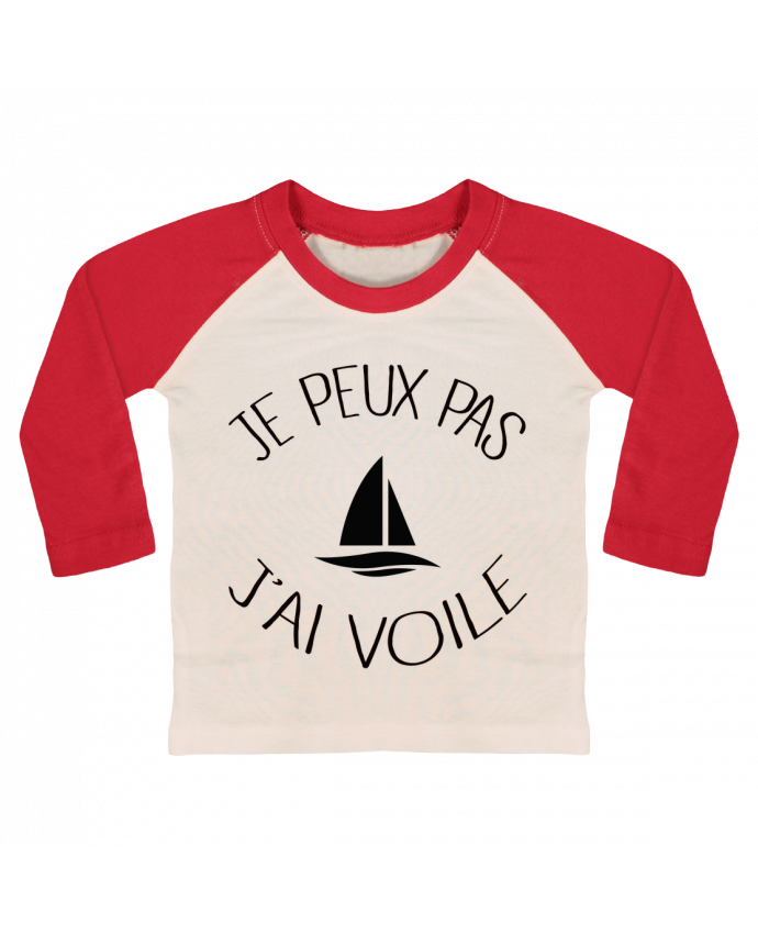 cheap best cheap in stock T-shirt Bébé Baseball Manches Longues Je peux pas j'ai voile par  Freeyourshirt.com