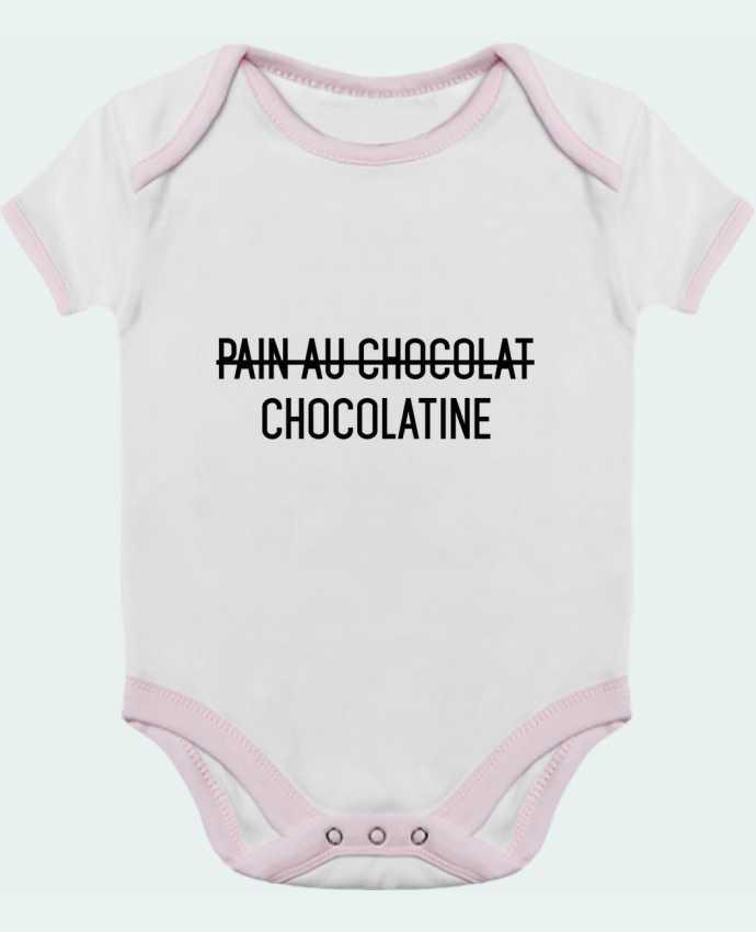 Body Bébé Contrasté Chocolatine par tunetoo