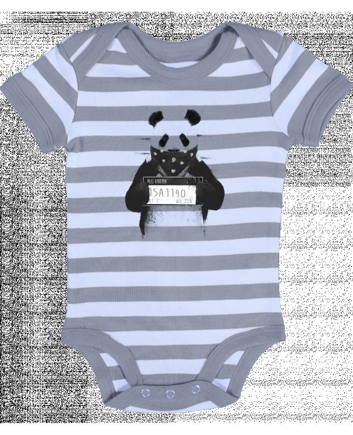 Body Bébé à Rayures Bad panda - Balàzs Solti