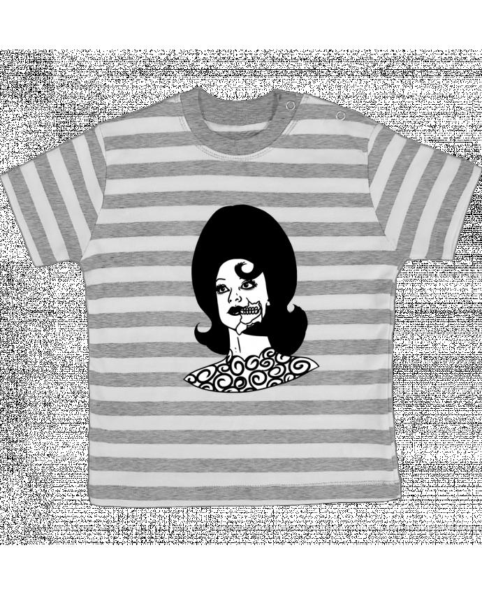 T-shirt Bébé à Rayures Miss Alien par tattooanshort