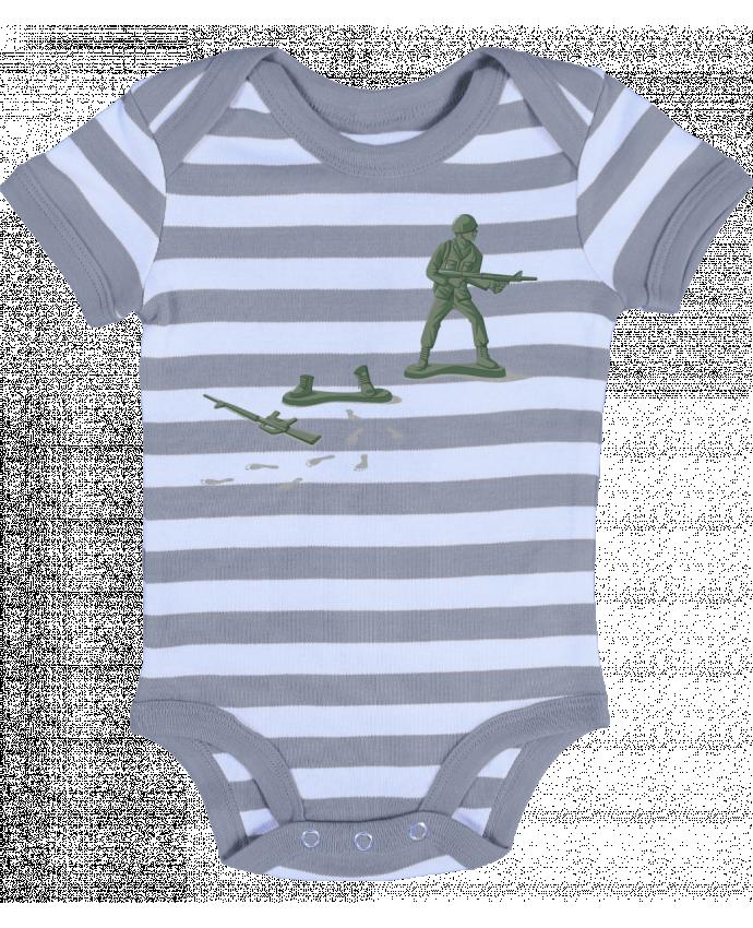 Body Bébé à Rayures Deserter - flyingmouse365