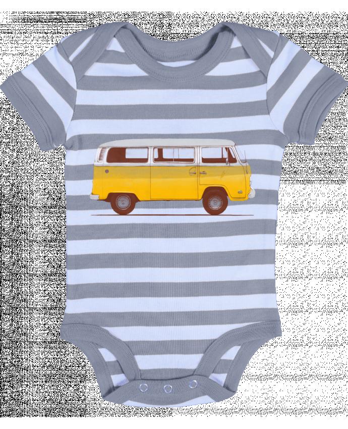 Body Bébé à Rayures Yellow Van - Florent Bodart