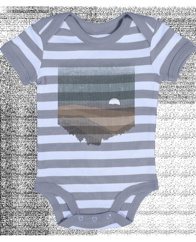 Body Bébé à Rayures Moonrise Sepia - Florent Bodart