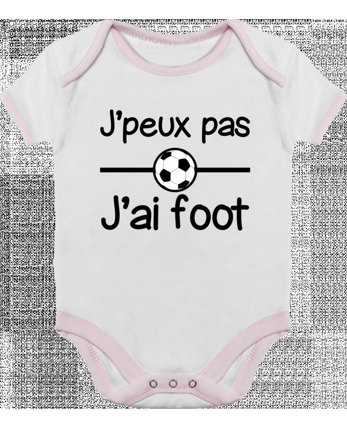 Body Bébé Contrasté J'peux pas j'ai foot , football par Benichan