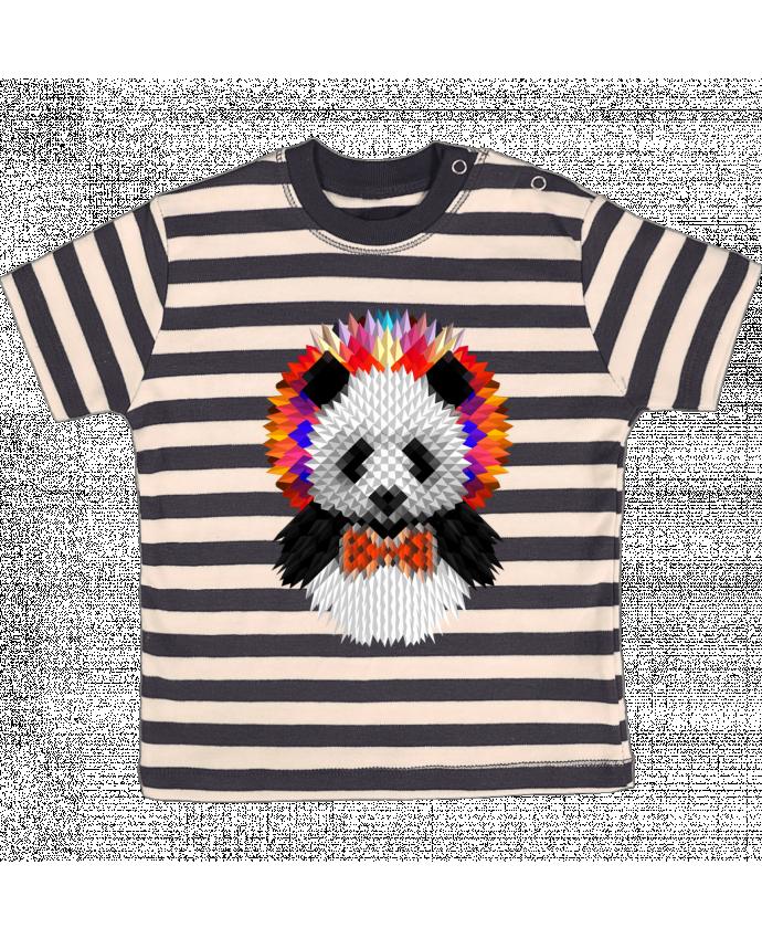 T-shirt Bébé à Rayures Panda par ali_gulec