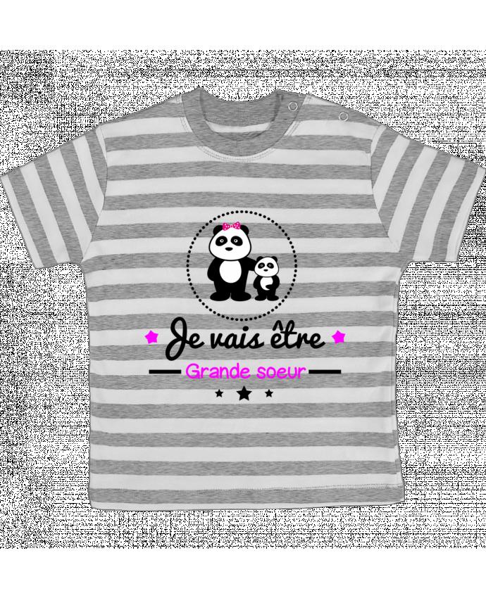 T-shirt Bébé à Rayures Bientôt grande soeur - Future grande soeur par Benichan