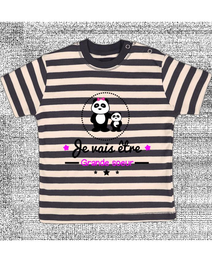 T Shirt Bébé à Rayures Bientôt Grande Soeur Future Grande Soeur