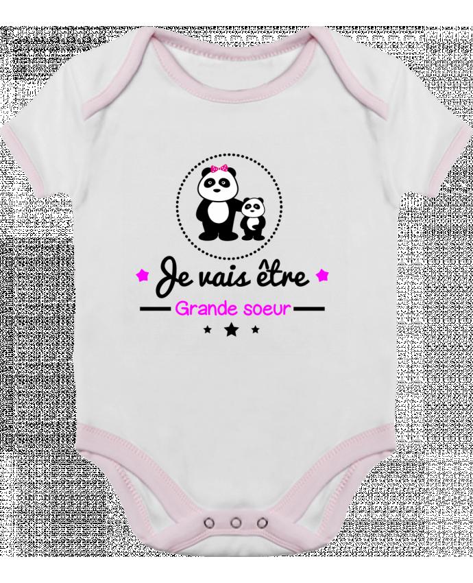 Body Bébé Contrasté Bientôt grande soeur - Future grande soeur par Benichan