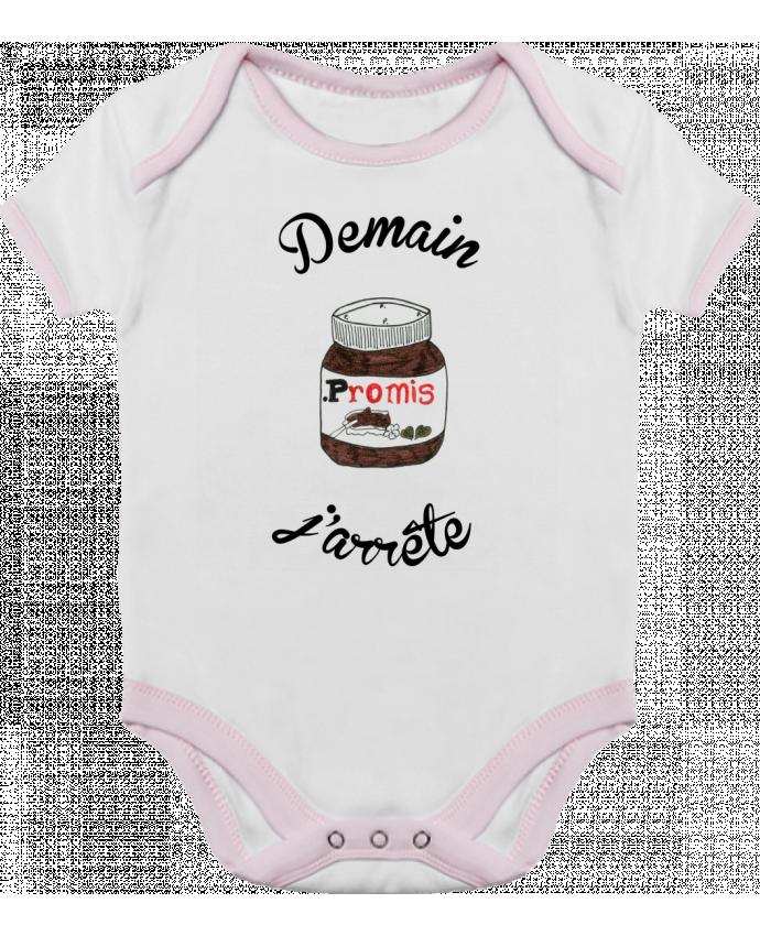 Body Bébé Contrasté Demain j'arrête le Nutella par Promis