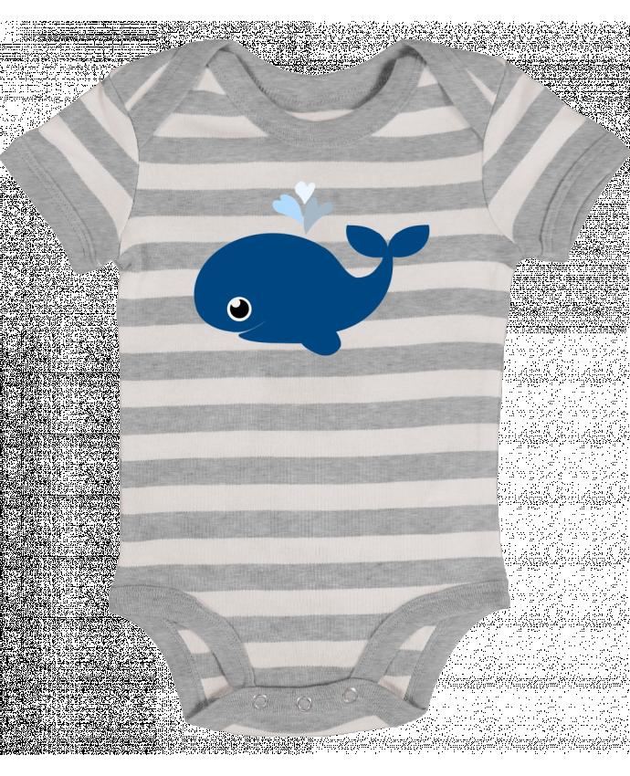 Body Bébé à Rayures Baleine coeur - WBang