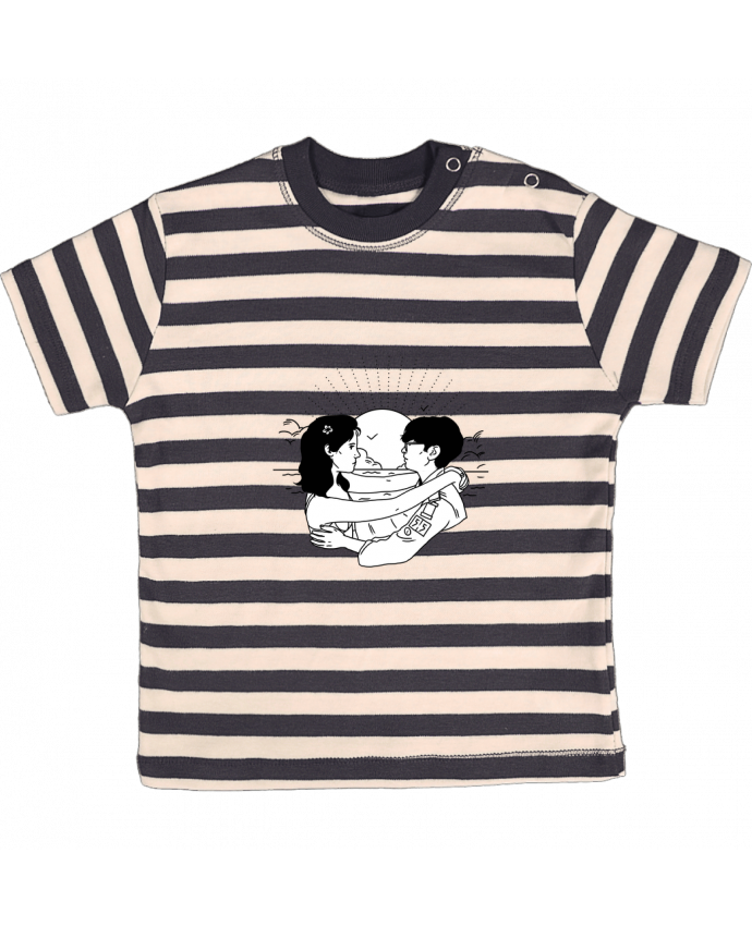 T-shirt Bébé à Rayures Moonrise Kingdom par tattooanshort