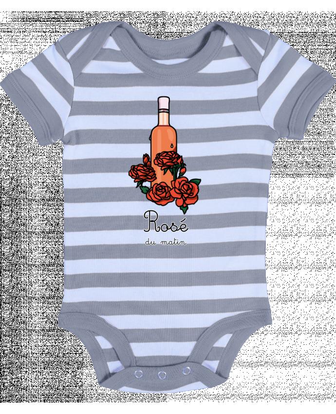 Body Bébé à Rayures Rosé du matin - tattooanshort